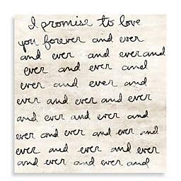 Dearest Love Letter Canvas Wall Art