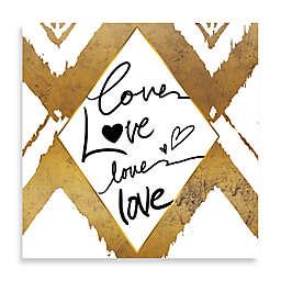 Love Times Four Gold Ikat Wall Art