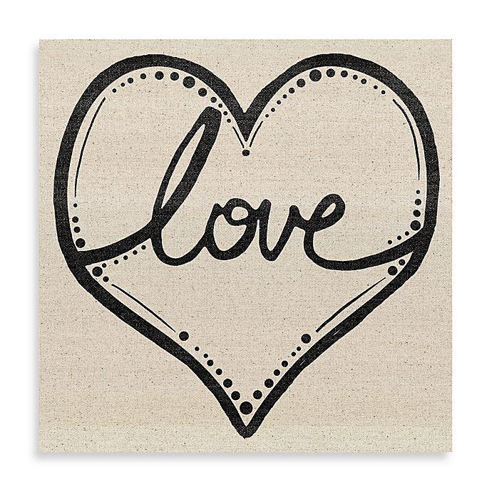 Alternate image 1 for Love Script Heart 16-Inch x 16-Inch Canvas Wall Art