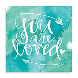 Love Arrow Blue Watercolor Wall Art