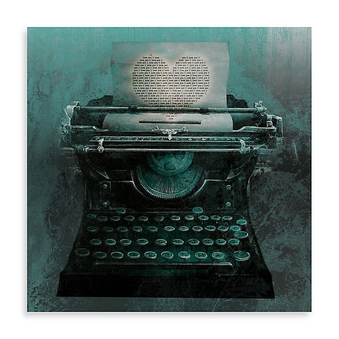 Alternate image 1 for Typewriter Love Letter 16-Inch x 16-Inch Canvas Wall Art