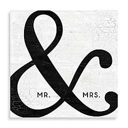 """Mr. & Mrs."" Black Ampersand Canvas Wall Art"