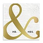 Mr. & Mrs.  Golden Ampersand 20-Inch x 20-Inch Canvas Wall Art