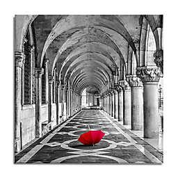 Red Umbrella Canvas Wall Art