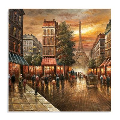 Paris Nights Canvas Wall Art Bed Bath Amp Beyond