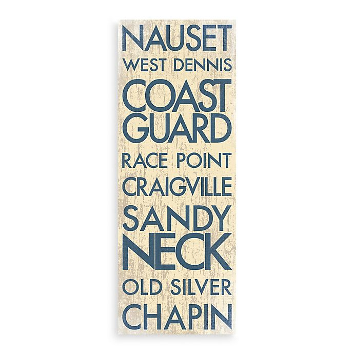 Alternate image 1 for Cape Cod Landmark Typography Canvas Wall Art