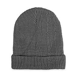 Waffle Knit Beanie in Grey