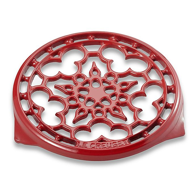 Alternate image 1 for Le Creuset® Deluxe 9-Inch Round Trivet in Red