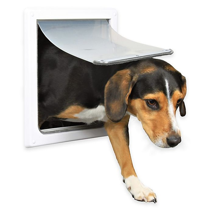 Alternate image 1 for 2-Way Size S-M Dog Door in White