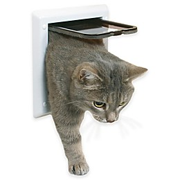 Cat Doors In White