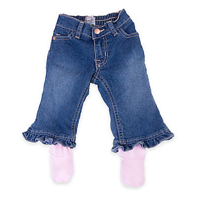 Otium Brands Denim Pants with Pink Footies