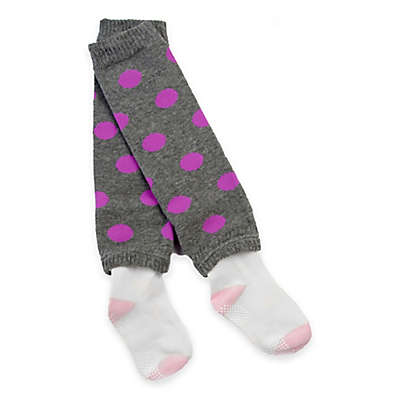Otium Brands Infant Leg Warmer Socks in Grey with Pink Dots