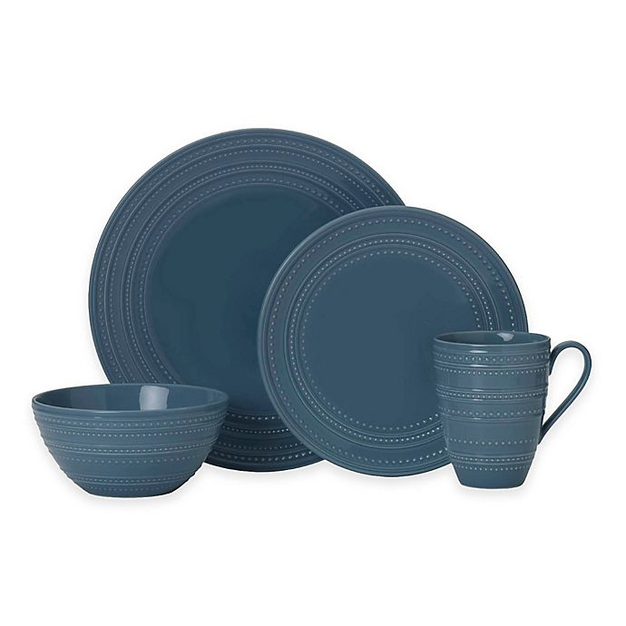 Alternate image 1 for Mikasa® Vella 4-Piece Place Setting in Blue