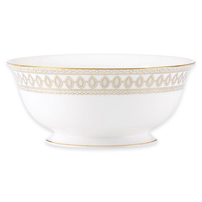Alternate image 1 for Marchesa by Lenox® Gilded Pearl Serving Bowl