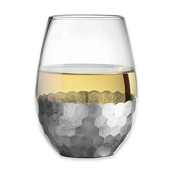 Alternate image 1 for Fitz and Floyd® Daphne Stemless Wine Glasses in Silver (Set of 4)