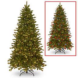 National Tree 7.5-Foot Sheridan Spruce Memory-Shape® Christmas Tree with Dual Color® Lights