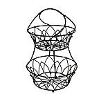 Mesa Mystic Iron 2-Tier Basket in Antique Black