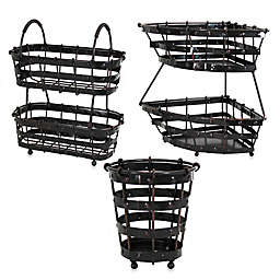 Mesa Old Country Kitchen Storage Collection in Antique Black
