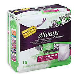 Always® Discreet 15-Count Extra Large Maximum Underwear for Incontinence