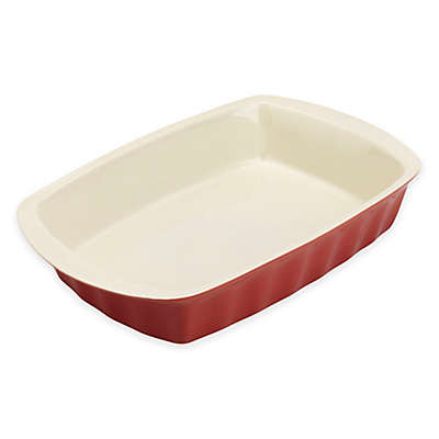 Bradshaw Large Rectangular 3 qt. Ceramic Baking Dish in Red