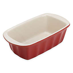 Bradshaw 5-Inch x 9-Inch Ceramic Loaf Pan in Red
