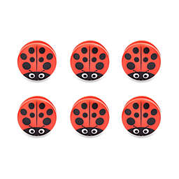 Kikkerland® Design Ladybug Bag Clips (Set of 6)