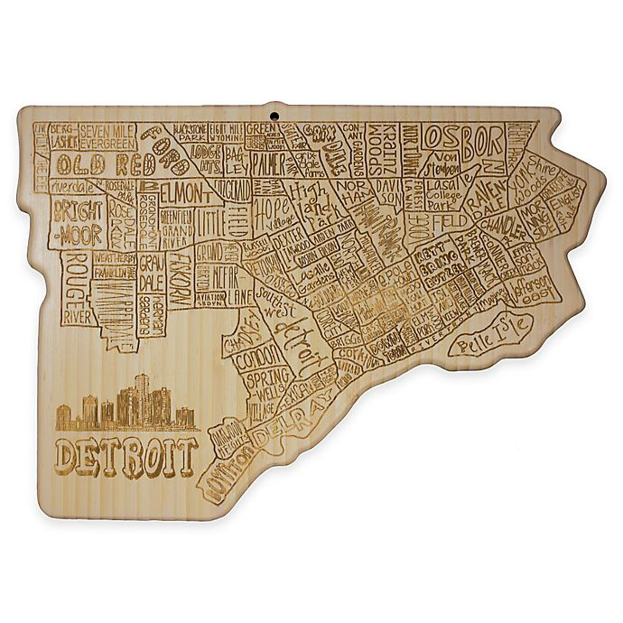 Alternate image 1 for Totally Bamboo Detroit Cutting/Serving Board