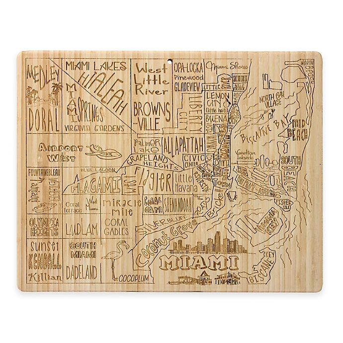 Alternate image 1 for Totally Bamboo Miami Cutting/Serving Board
