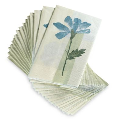 Croscill 174 Spa Leaf Disposable Buffet Guest Towels Set Of