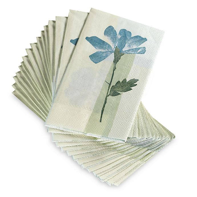 Croscill Hand Towels: Croscill® Spa Leaf Disposable Buffet/Guest Towels (Set Of