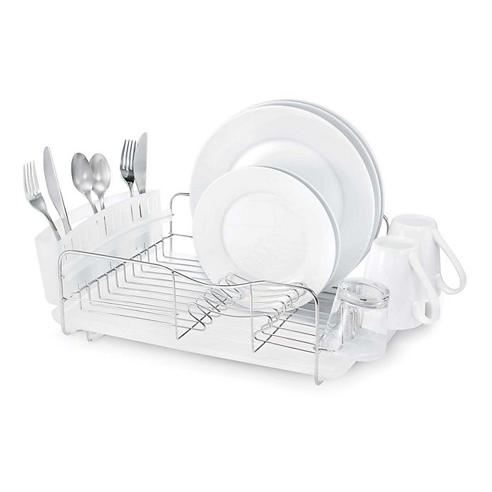Alternate image 1 for Polder® Advantage 3-Piece Stainless Steel Dish Rack