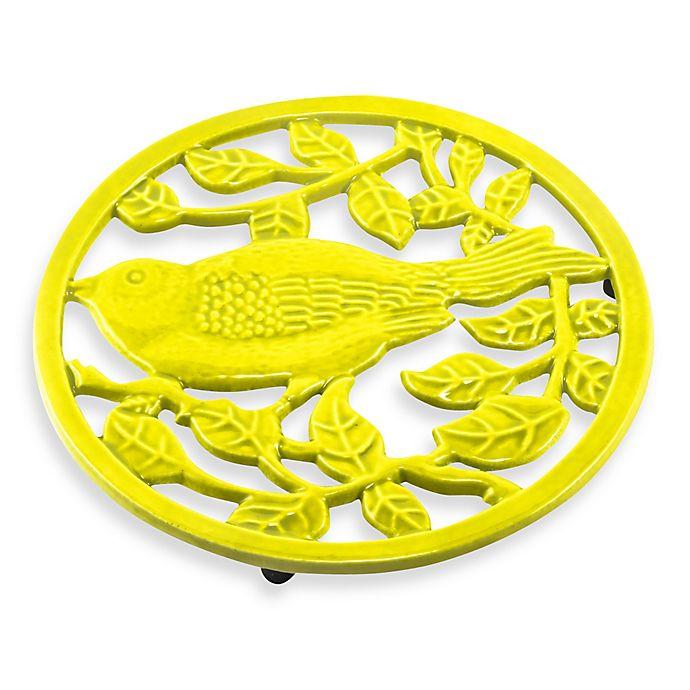 Alternate image 1 for Old Dutch International 2-Tone Little Birdie Trivet in Oasis Green