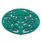 Old Dutch International Tree of Life Trivet in Emerald Green