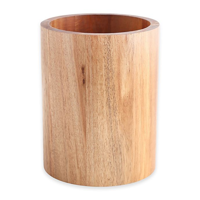 Alternate image 1 for Acacia Round Utensil Crock
