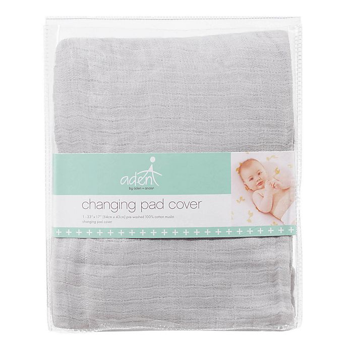 Alternate image 1 for aden® by aden + anais® Changing Pad Cover in Grey