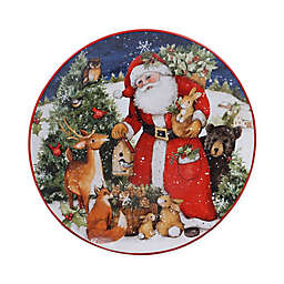 Certified International Magic of Christmas Santa Claus Dinner Plates (Set of 4)