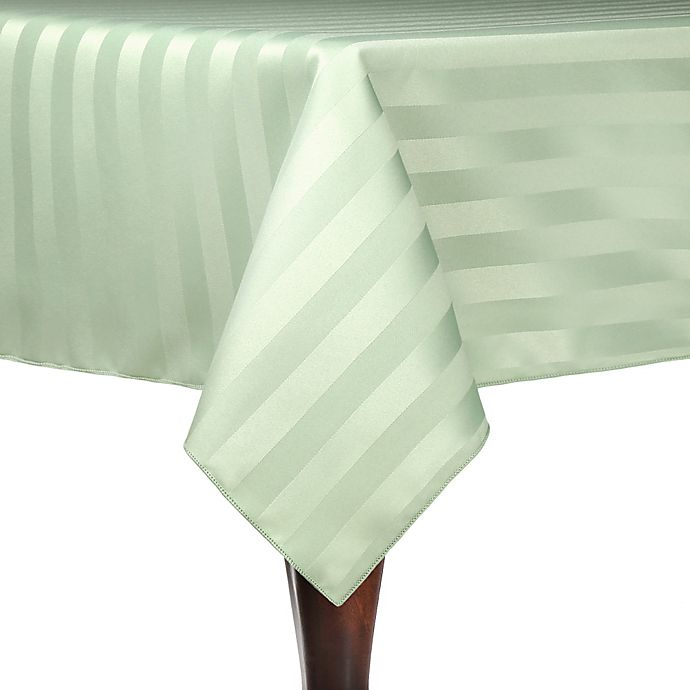 Alternate image 1 for Poly Stripe Indoor/Outdoor Tablecloth