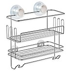 iDesign® Turn-N-Lock 2-Tier Suction Shelf