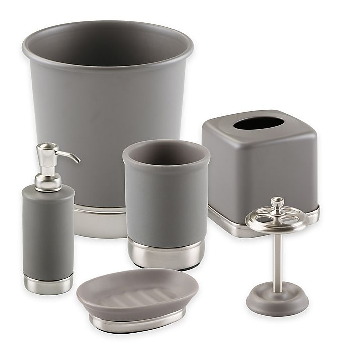 Alternate image 1 for iDesign® York Bath Accessory Collection in Matte Grey
