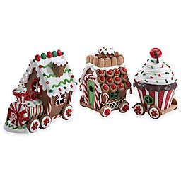 Kurt Adler 4.3-Inch Lighted Gingerbread Train Set