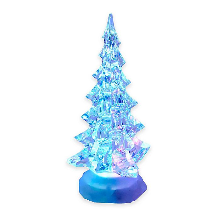 Kurt Adler 10-Inch Acrylic Lighted Miniature Christmas Tree - Kurt Adler 10-Inch Acrylic Lighted Miniature Christmas Tree Bed