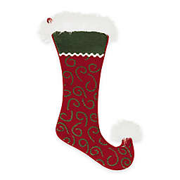 Needlepoint 20-Inch Jester Swirl Cotton Christmas Stocking