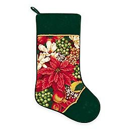 Needlepoint 18-Inch Crimson Glory Cotton Christmas Stocking