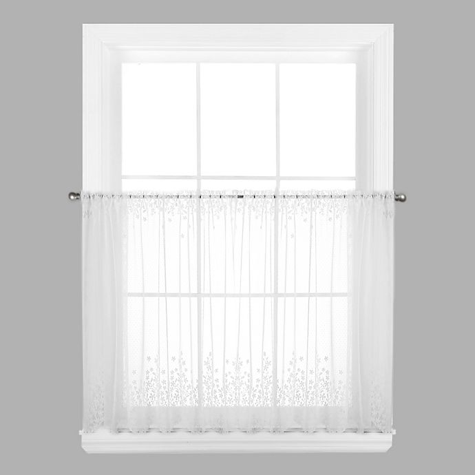 Alternate image 1 for Blossom 30-Inch Window Curtain Tier in White