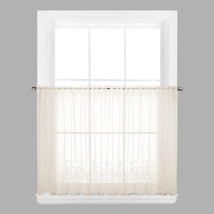 Alternate image 1 for Blossom 30-Inch Window Curtain Tier in Ecru