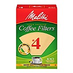 Melitta® 100-Count Number 4 Natural Brown Super Premium Coffee Filters