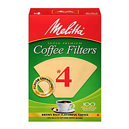 Melitta® 100-Count Number 4 Natural Brown Super Premium Coffee Filters