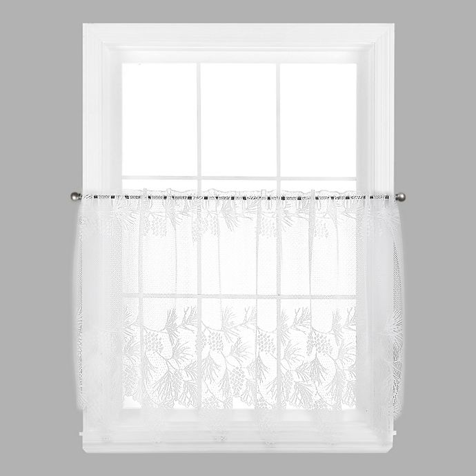Alternate image 1 for Woodland 24-Inch Window Curtain Tier in White