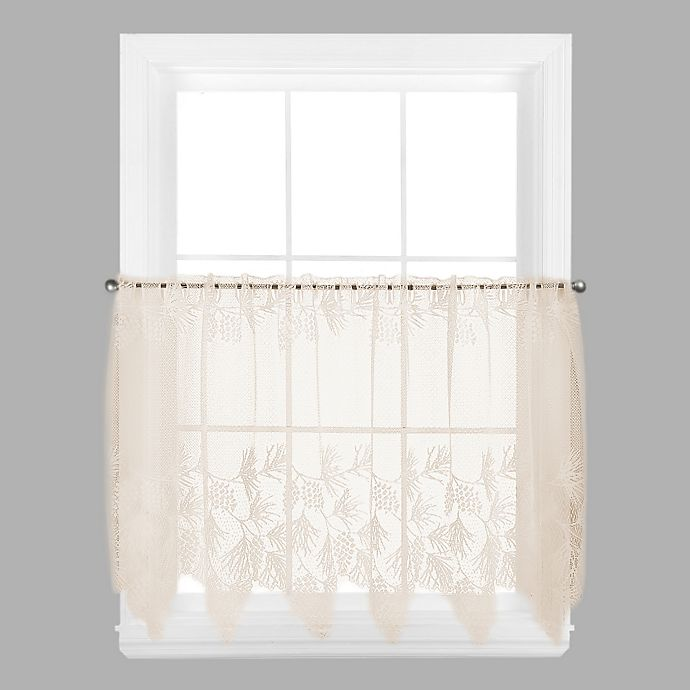 Alternate image 1 for Woodland 30-Inch Window Curtain Tier in Ecru