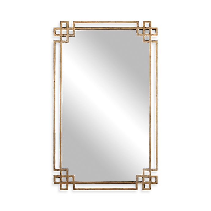 Alternate image 1 for Uttermost 22.75-Inch x 37-Inch Devoll Rectangular Mirror in Antique Gold